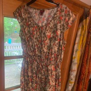 Blush toned leopard print dress